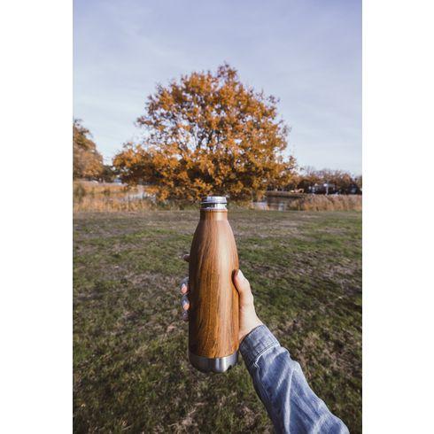 Topflask Wood Trinkflasche