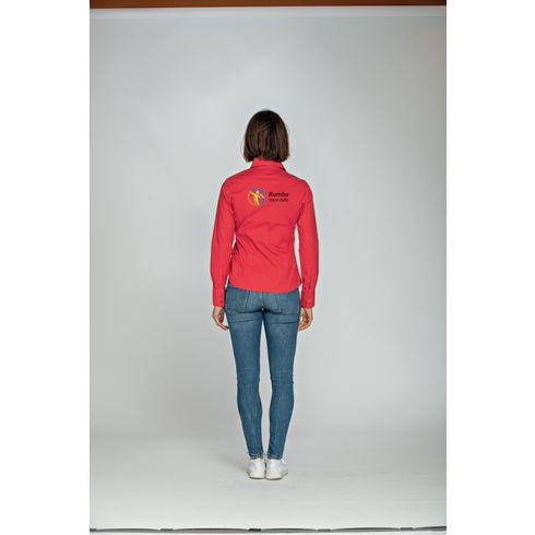 L&S Poplin Longsleeve Damenshirt