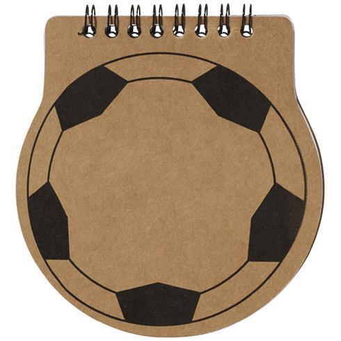 Score Notizblock in Fußballform