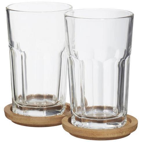 Linden 2-teiliges Gläser-Set mit Untersetzer