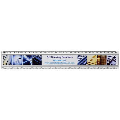 Ellison 30 cm Kunststofflineal mit Papiereinlage