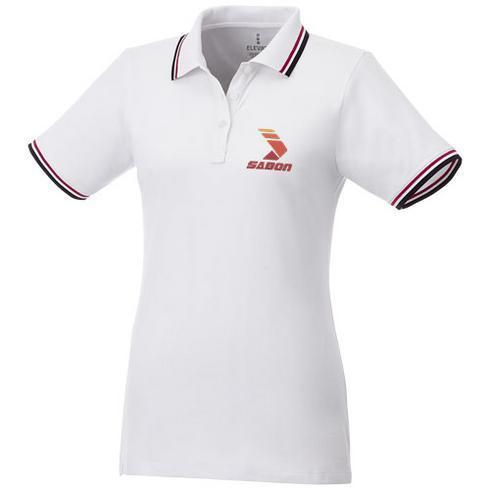 Fairfield Poloshirt mit weißem Rand für Damen